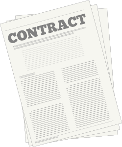 picture of a contract for real estate