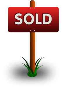 Sold yard sign