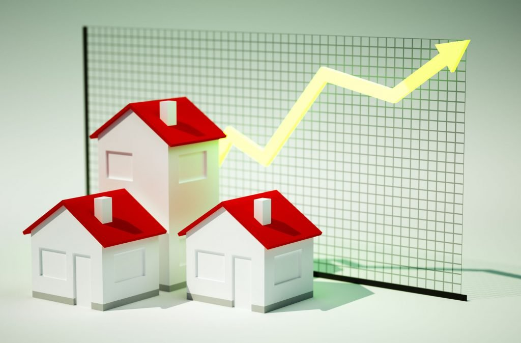 Graph showing rising real estate prices why low housing inventory means more money.